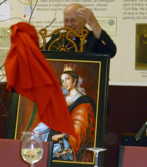 Fr. Breza unveils his surprise gift