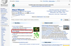 Home page of wikipedia.pl - June 2, 2013